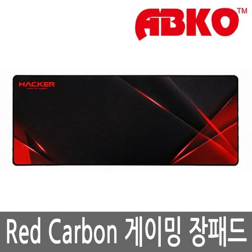 Product Image of the 앱코 HACKER Red Carbon 게이밍 장패드